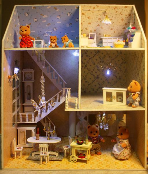 Подсветка в кукольный домик своими руками 96