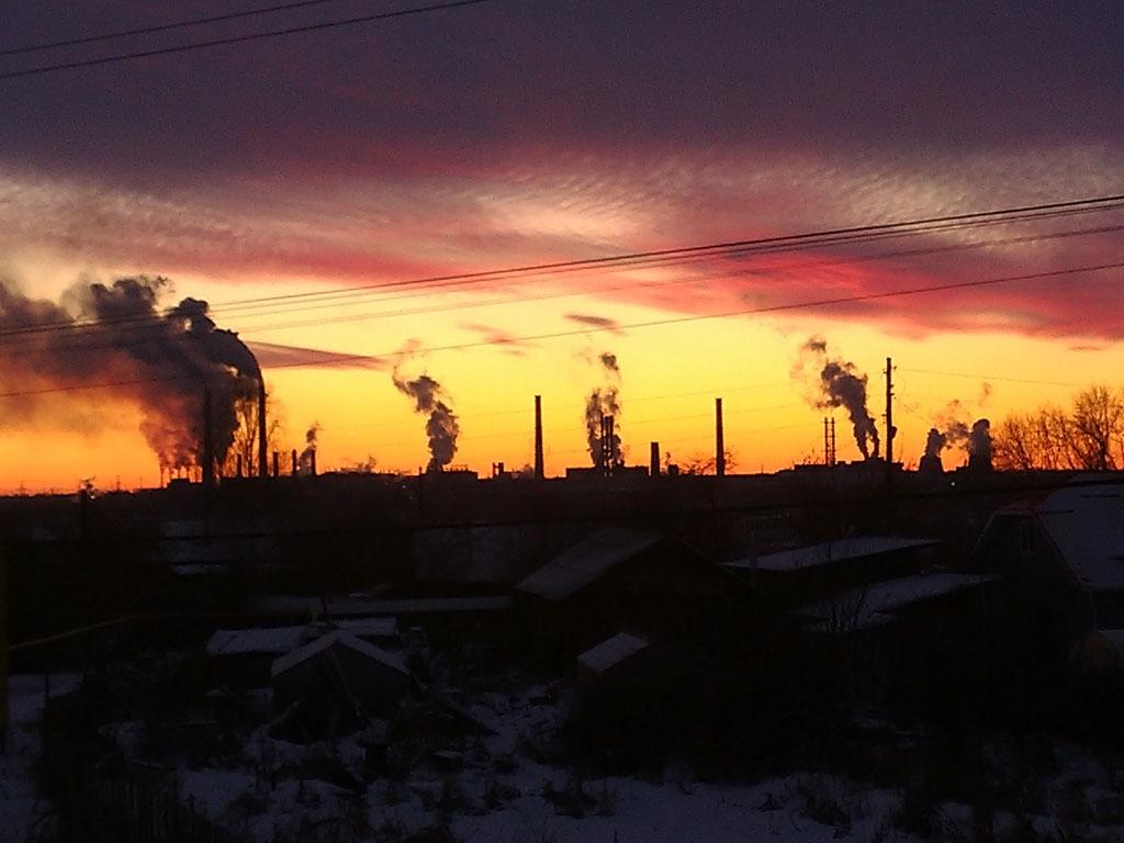 (15.11.2014 © ATola) Монастырка, закат с крыши 3 - Красивое с телефона