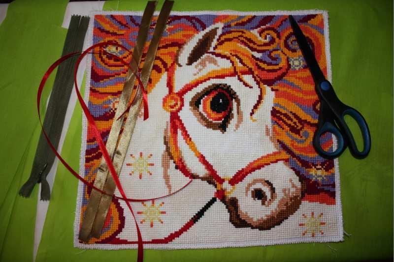 (06.02.2017 © ATola) Метрики и «Злотогривая лошадка» - Вышивка крестом
