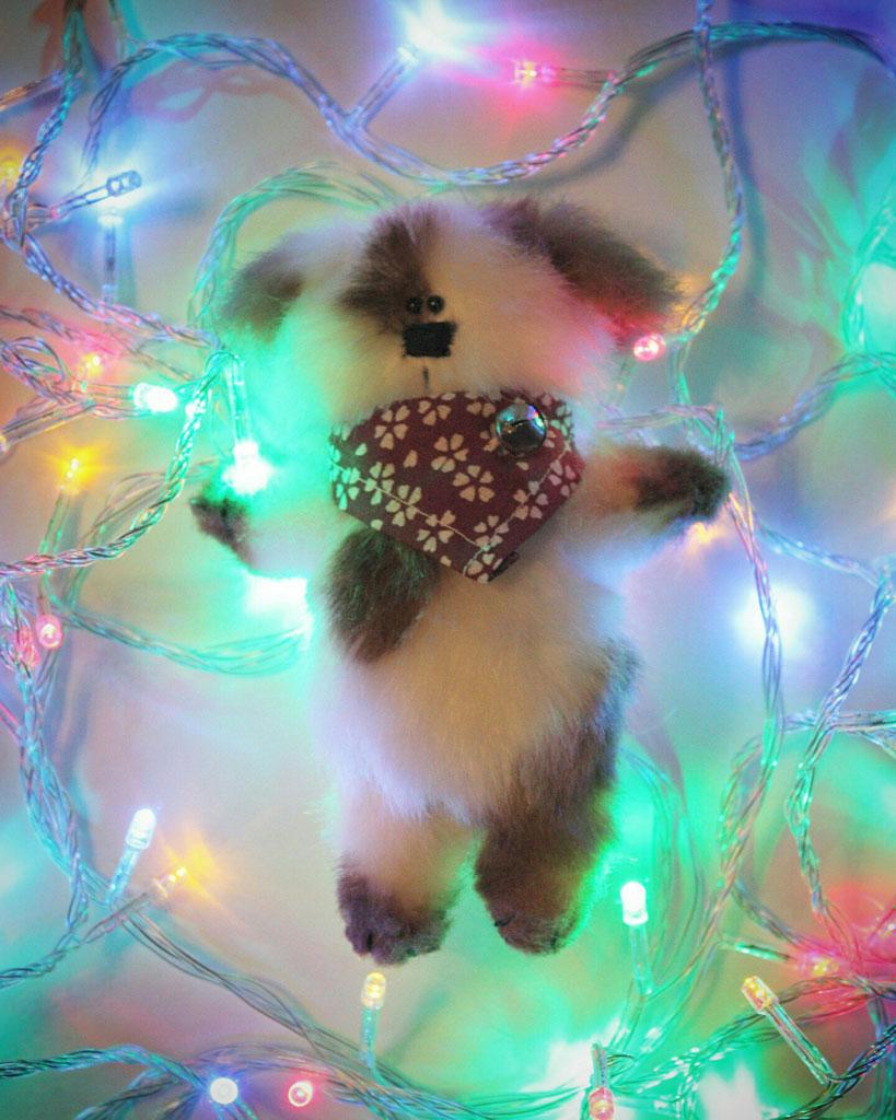 (24.01.2018 toys) Новогодний пёсик - По выкройке @olesiagergel #сп_gergel в Инстаграм