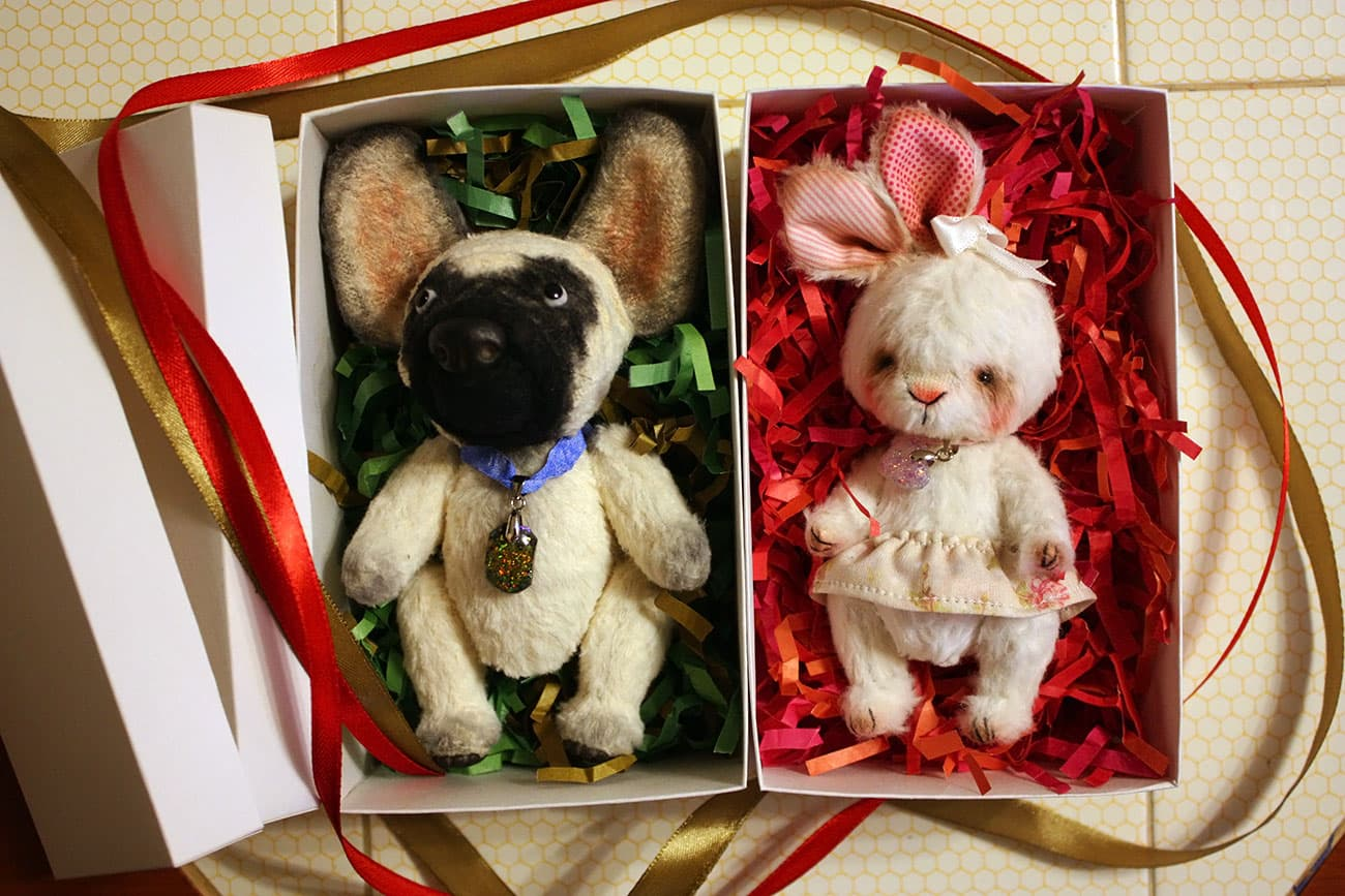 (23.10.2018 handmade, toys) Заяц и бульдог - Готовы к отправке за границу