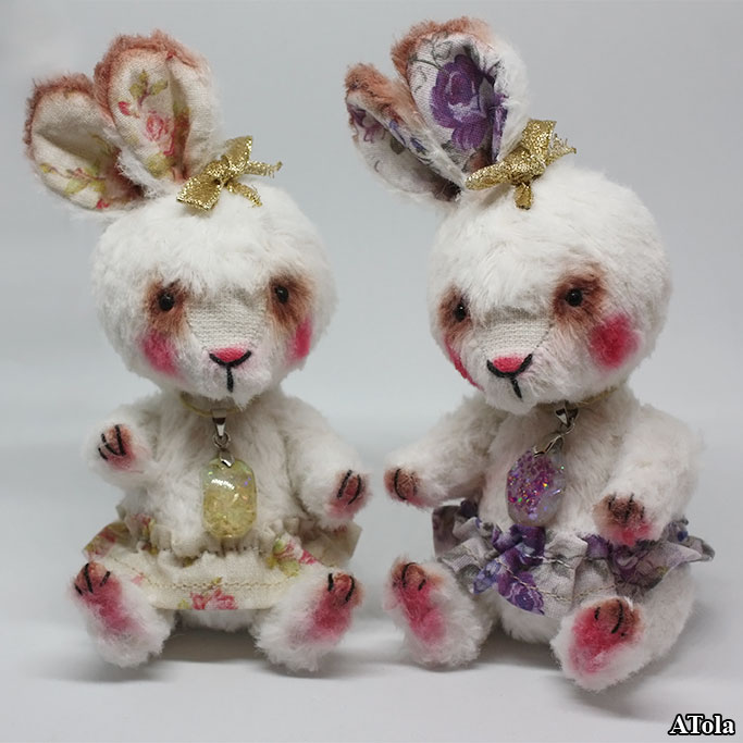 (06.12.2018 toys, handmade) Зайки - бандитки (в стиле тедди)