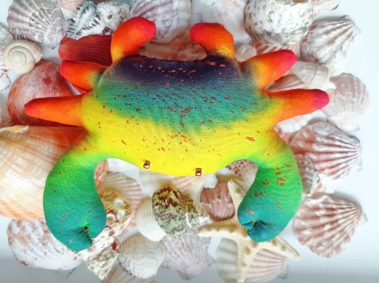 (26.07.2021 handmade, toys) Краб - Текстильная игрушка