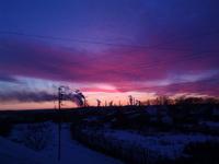 (15.11.2014 © ATola) Монастырка, закат с крыши 1 - Красивое с телефона