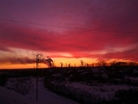 (15.11.2014 © ATola) Монастырка, закат с крыши 2 - Красивое с телефона