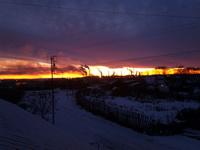 (15.11.2014 © ATola) Монастырка, закат с крыши 4 - Красивое с телефона