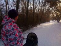 (23.02.2015 © ATola) Гуляем с коляской - По Набережной