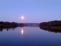 (04.08.2015 © ATola) Закат на реке Исеть - Полнолуние, Каменск-Уральский