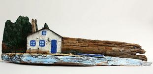 (10.07.2018 dollhouse, handmade) Домик из дрифтвуда - (из дерева, плававшего в воде)