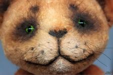 (17.10.2018 handmade, toys) Котик. Рыжий кот тедди - с кулоном из опалов