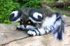 (05.06.2021 handmade, toys) Кошка-енот из далекого космоса 2 - Брат Глайи?
