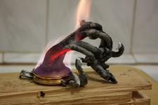 (06.05.2013 © ATola) Фараонова змея - Глюконат кальция и сухое горючее